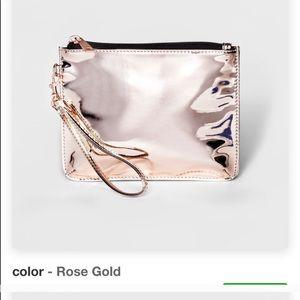 Mossimo rose gold wristlet